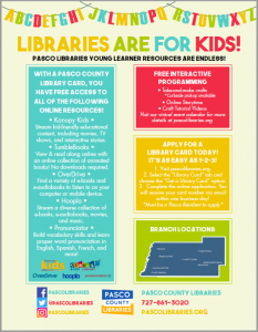 Pasco County Library Resources for Kids